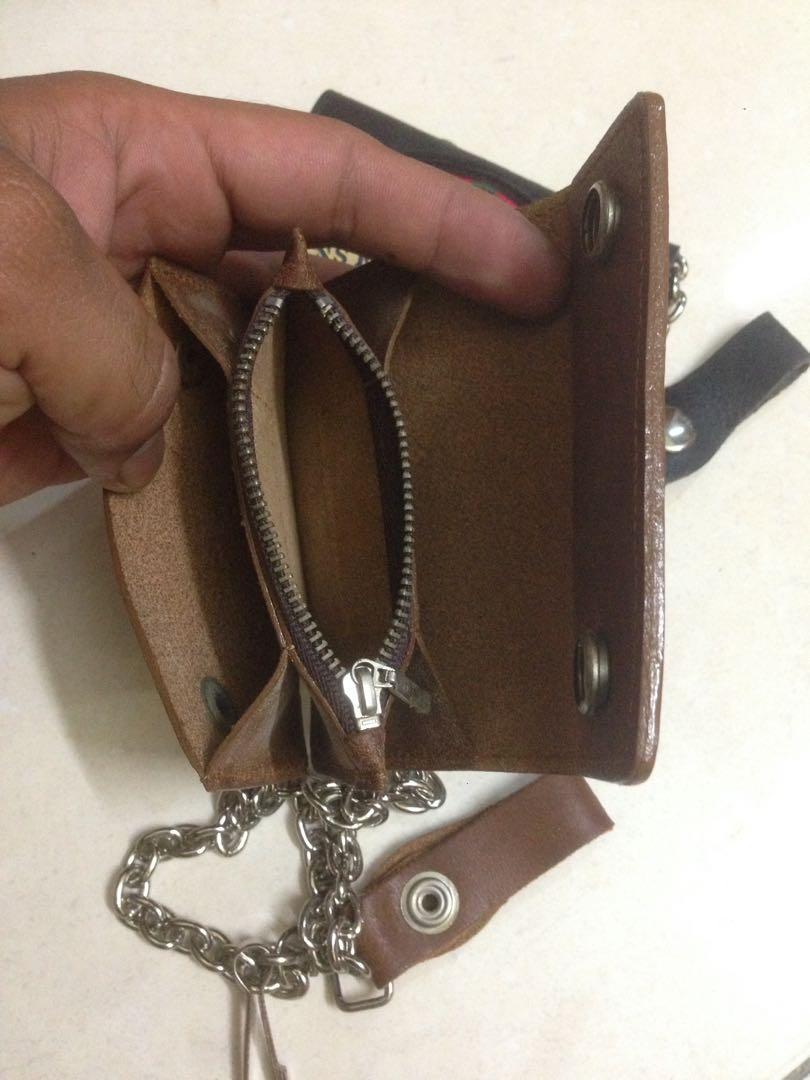 Vtg Leather wallet 90s
