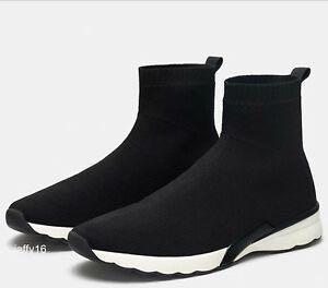 ZARA sock trainers hi top, Women's
