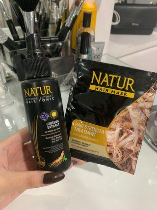 Natur ginseng hair tonic + free ginseng hair mask