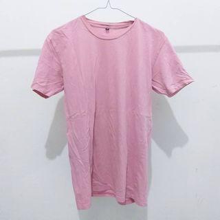 Tshirt basic warna pink