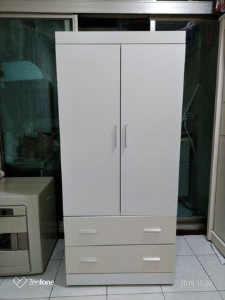白色衣櫃(實心櫃體/免組裝