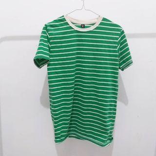 Tshirt stripe warna hijau