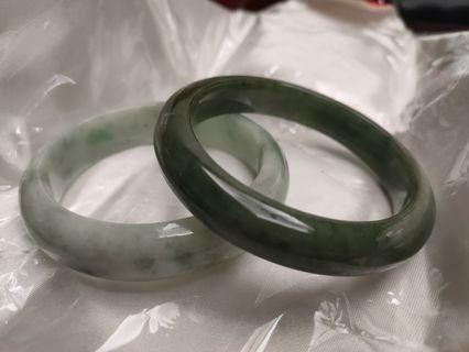 天然緬甸翡翠玉鐲油青種18.9-19