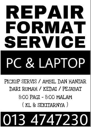Service laptop RM50