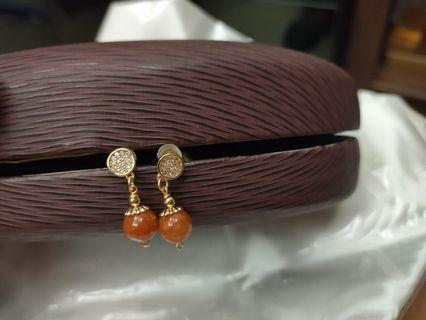 K金翡翠蜜糖耳環便宜出售