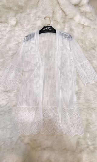 9.5成新/經典款雪紡紗罩衫/適F