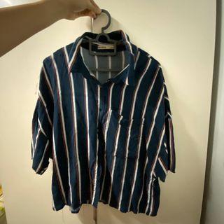 Pull & Bear short sleeves Stripes Top Blouse #letgo50