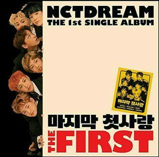 [PRE-ORDER] - NCT DREAM - THE FIRST(THE 1ST SINGLE ALBUM)