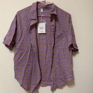 紫色格紋套裝