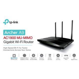 TP-Link Archer A9 AC1900 Gigabit雙頻無線網路wifi分享路由器