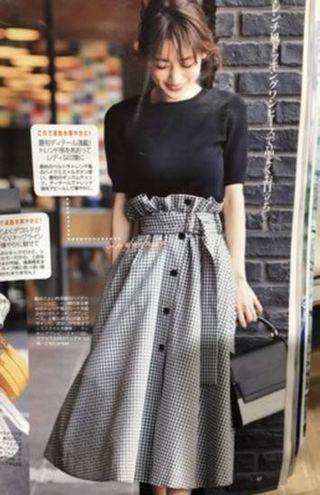 日系雜誌封面連身裙