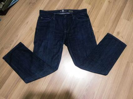 7 FOR ALL MANKIND    ( MADE IN USA ) SLIMNY JEANS