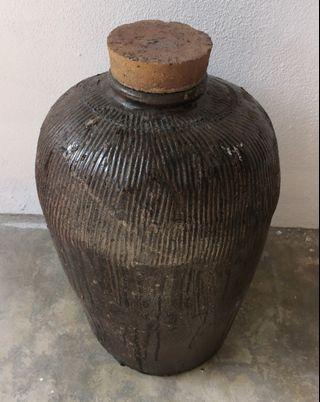 antique handmade ceramic pot tempayan