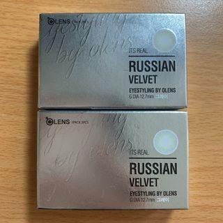 Russian velvet 隱形眼鏡 韓國帶回