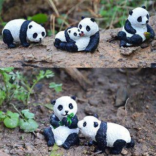 迷你熊貓擺件微景觀小品雕塑樹脂工藝品盆景裝飾品多肉植