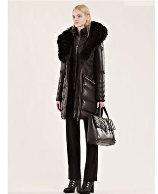 Rudsak lamb leather winter jacket xs