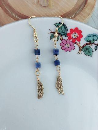 藍紋石耳環