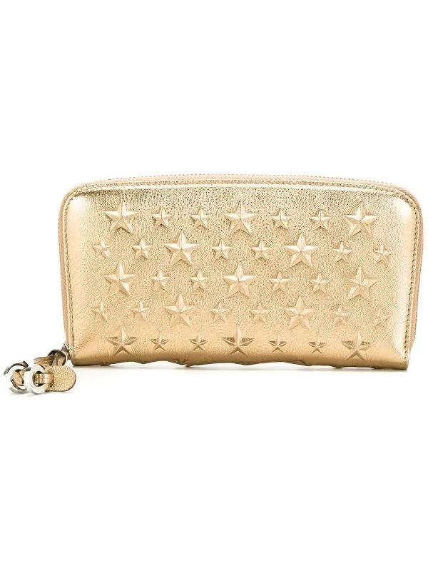 100% new authentic Jimmy Choo Filipa leather wallet with gold star