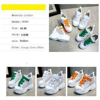 Real picture Gt@Sepatu Wedges Korea 6361 #Hs  IDR 290K NET
