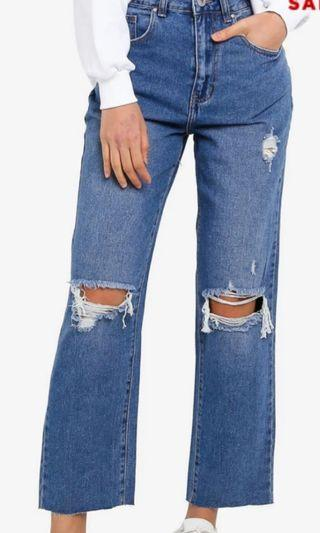 RIPPED JEANS, STRAIGHT LEG JEANS. Cotton on