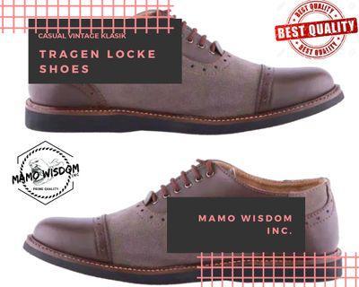 Sepatu lokal TRAGEN LOCKE   Sepatu Longwing Kulit Pantofel Formal Kerja Casual Vintage Klasik