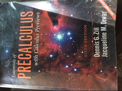 ESSENTIALS OF PRECALCULUS 6th ed by ZILL  DEWAR