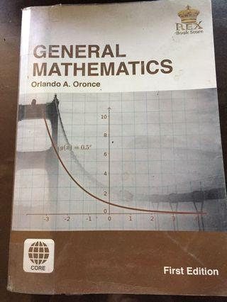GENERAL MATH SENIOR HIGH SCHOOL REX BOOKS ORONCE