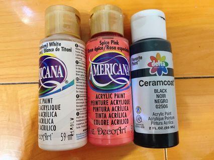 拼布專用 進口 壓克力顏料 手作材料 三罐一起售 原價$380