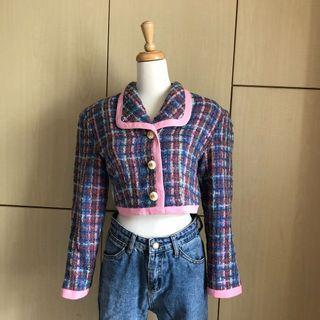 (古著💫)1980復古芭比娃娃風短版西裝外套💃🏻