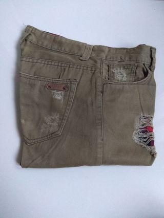 Ripped Chino Semi Jeans