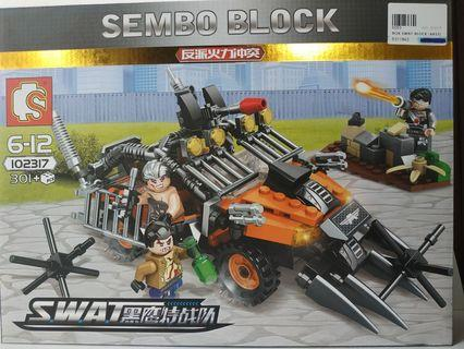 Sembo Building Blocks Toy Lego Compatible SWAT 102317
