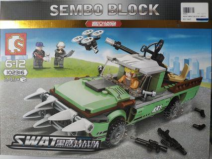 Sembo Building Blocks Toy Lego Compatible SWAT 102316