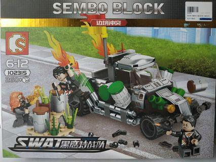 Sembo Building Blocks Toy Lego Compatible SWAT 102315