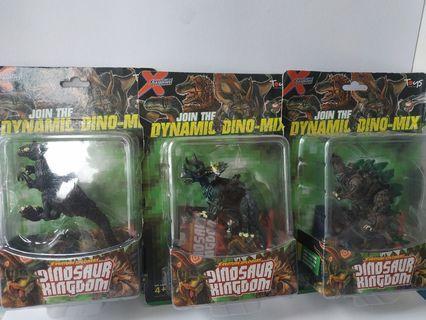Dinosaur Kingdom Allosaurus Triceratops Tuojiangosaurus Toy Figures