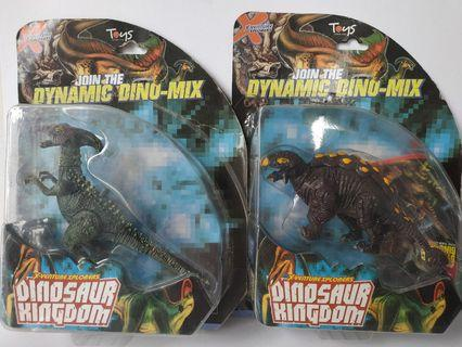Dinosaur Kingdom Parasaurolophus Ankylosaurus Toy Figures