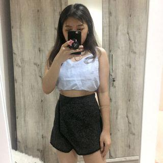 Gray Shorty Skirt