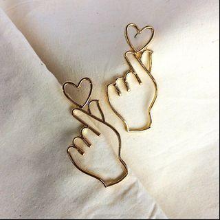 Anting finger hearts ♥️ (ala korea)