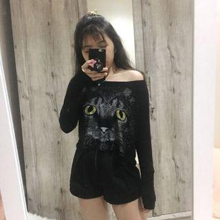 Not Owl Black Crop Top by Colorbox