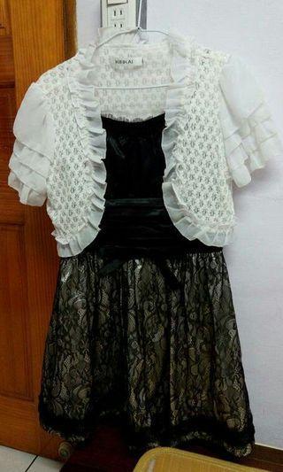 小禮服 洋裝 連身裙+專櫃KINKAI氣質優雅小外套