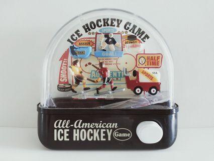 Japan Handheld Press Water Game Ice Hockey Vintage