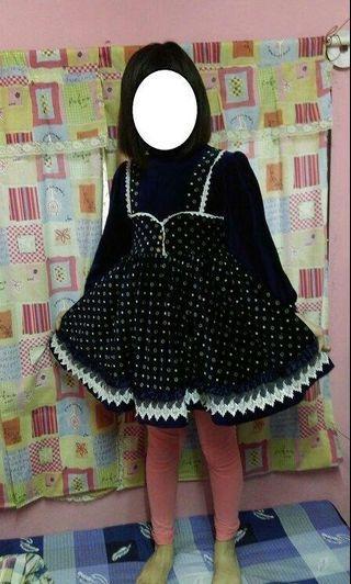 可愛滿版花漾圖案小洋裝 連身裙