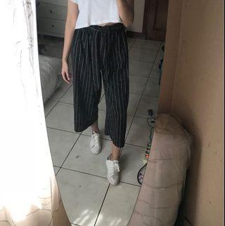 High waist Kulot Stripes Black