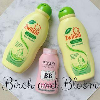 Zwitsal Baby Hair Lotion 200mL | [SUDAH BPOM] Ponds BB Magic Powder