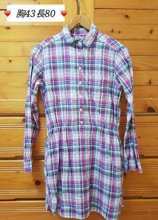 UNIQLO棉麻格紋洋裝