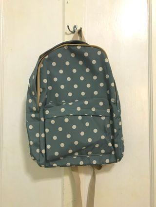 Backpack polkadot hijau