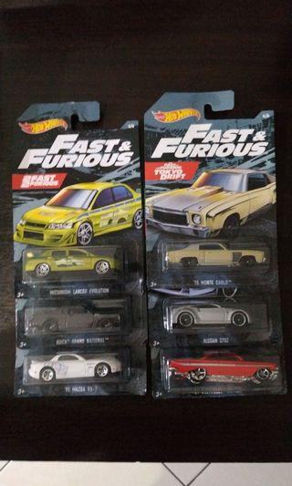 Hot Wheels Fast and Furious Walmart Exclusive 2019