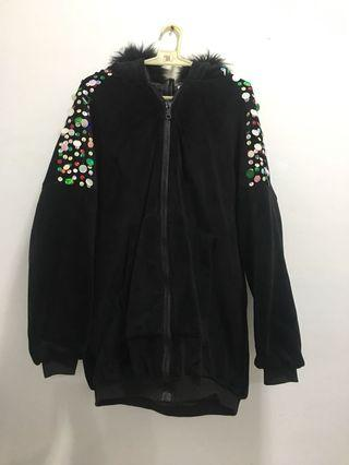 韓版絨布亮片外套