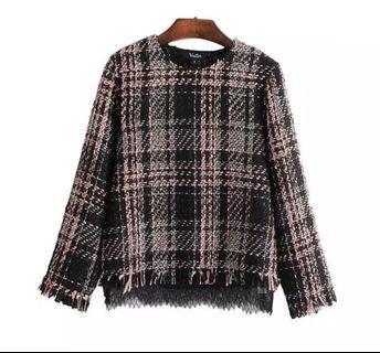 Zara Tweed Blouse