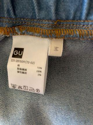 GU牛仔內搭褲