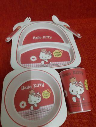 HelloKitty餐具5件組(咖啡店不做了,虧本清倉)